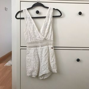Kendall and Kylie White Lace Romper